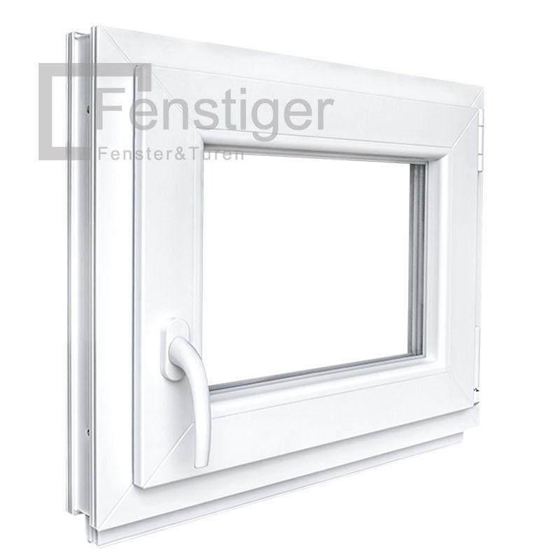 2 Fach Verglasung wei/ß Fenster Kunststoff BxH: 80x115 cm Breite: 80 FIB Premium Kunststofffenster Festverglasung