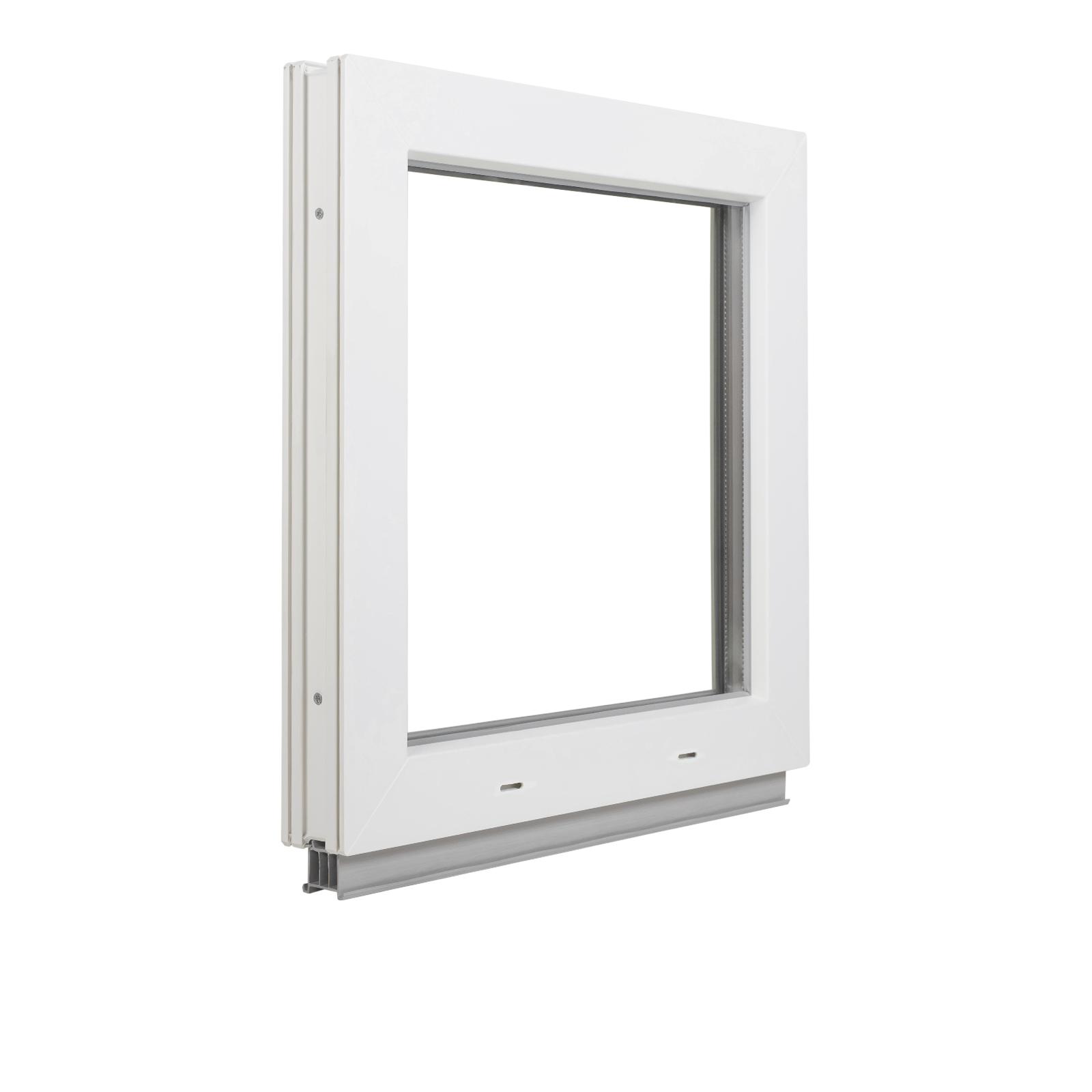Premium Kunststofffenster Fenster Kippfenster Breite: 70 cm Wei/ß BxH: 70x40 cm 2 fach Verglasung