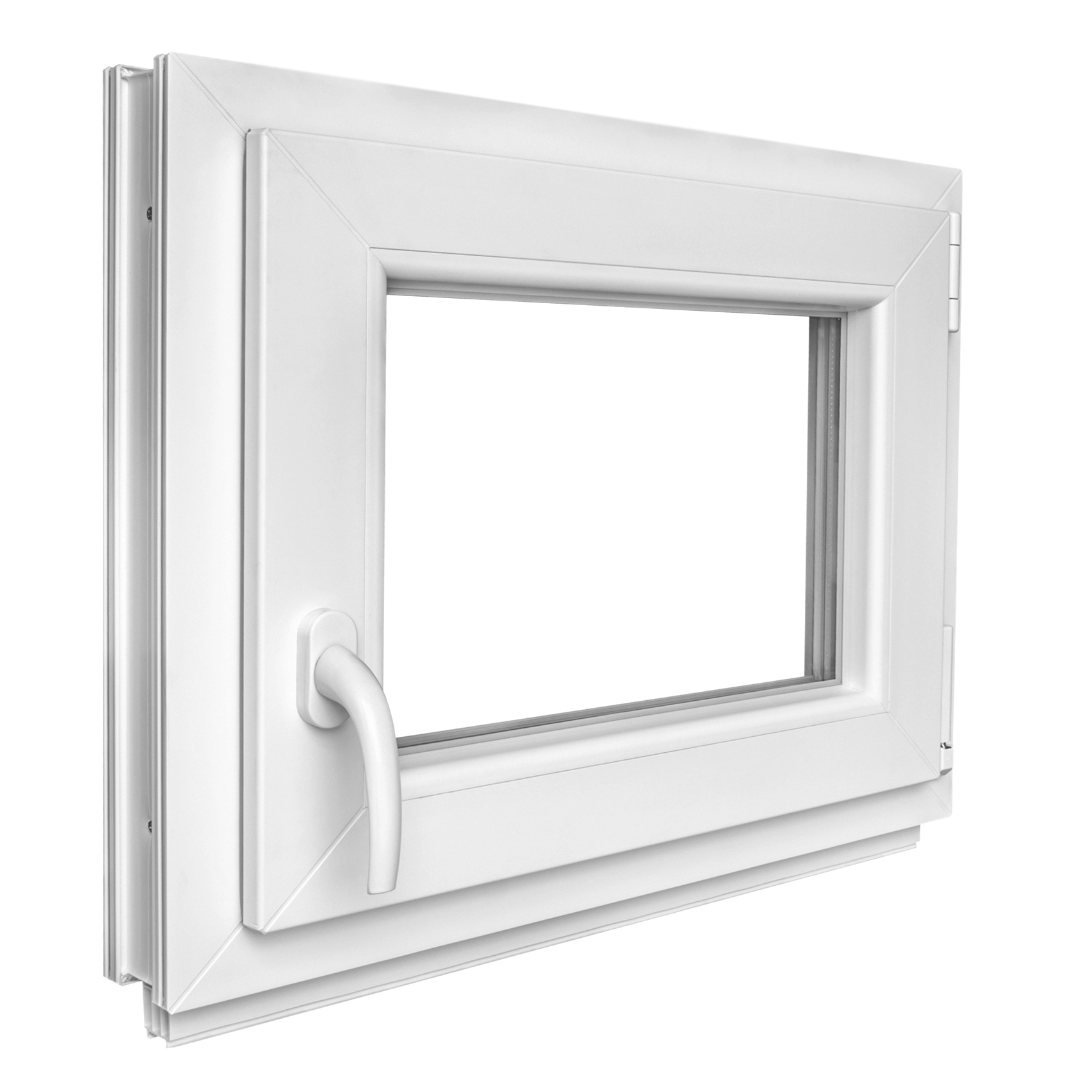 Kunststofffenster kellerfenster fenster mit griff 50x50cm dreh kipp winkhaus ebay for Kunststofffenster kellerfenster